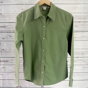 J. Crew moss green button down shirt / Size S